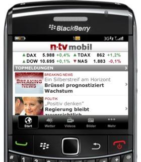die kostenlose n tv blackberry app ist da. Black Bedroom Furniture Sets. Home Design Ideas