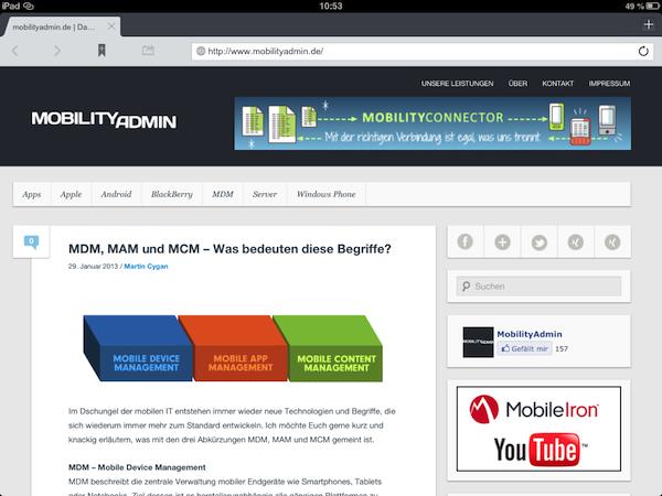 MobileIron | MobilityAdmin de